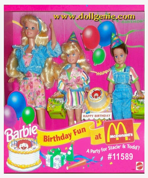 McDonalds Birthday Fun Barbie Stacie and Todd Giftset