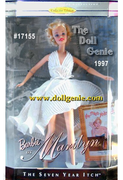 Hollywood Legends Collector Edition - Barbie doll as Marilyn Monroe captures all the beauty and charm of this famous actress, in costumes specially recreated from two of her most famous films from Twentieth Century Fox. Among the many photographs of Marilyn Monroe, perhaps none captures her beauty and allure as much as the famous scene of her standing above the grill in New York as the subway rushes by. From the film, The Seven Year Itch,Barbie as Marilyn wears her famous white halter dress with crystal pleating, and beautiful faux pearl earrings. Collectors will love the incredible way Barbie recaptures the stunning beauty of Marilyn in this famous scene from a great film.