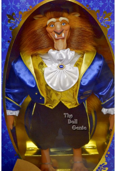Disneys The Beast by Mattel in 1997 which is the 3nd in a series of Disney Collector dolls from the Signature Collection. Each doll wears his or her signature fashion and is displayed in a dimmentional setting from the classic Disney antimated film. Item no. 17826 and measures 15 inches tall and is brand new in mint condition with Certificate of Authenticity and stand are included.