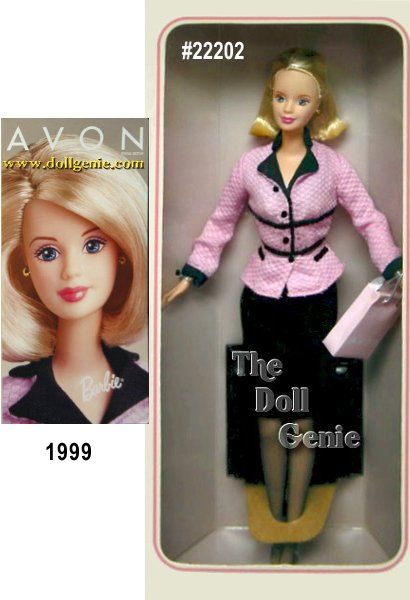 Presenting the very first Avon Representative Barbie doll designed exclusively for Avon to honor its thousands of Avon Representatives worldwide. These dolls feature Barbie as a contemporary Avon Representative, reflecting some of the many faces of Avon around the world. Available as an African-American, Caucasian or Hispanic doll, Avon Representative Barbie truly celebrates diversity in culture and style. This is the Blonde Version