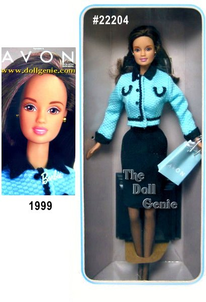 Presenting the very first Avon Representative Barbie doll designed exclusively for Avon to honor its thousands of Avon Representatives worldwide. These dolls feature Barbie as a contemporary Avon Representative, reflecting some of the many faces of Avon around the world. Available as an African-American, Caucasian or Hispanic doll, Avon Representative Barbie truly celebrates diversity in culture and style. This is the Hispanic Version