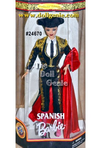 Dolls of the World Collection 2000 Spanish 20th Anniversary Barbie