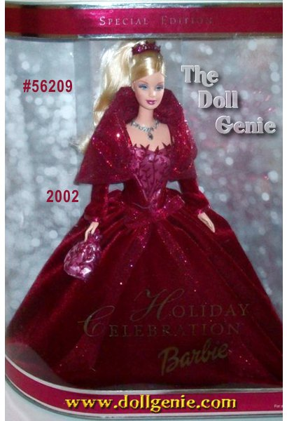 A season to shine. To dream, to dazzle, to make wishes come true. Holiday Celebration Barbie doll captures all the joy and anticipation of the season. Her gown is a velvety swirl of burgundy. Her jewels are lavishly detailed. Even her eyelashes are unique, rooted for the first time ever in this series. The third and most exquisite of the series, Holiday Celebration Barbie will make this a season to remember.