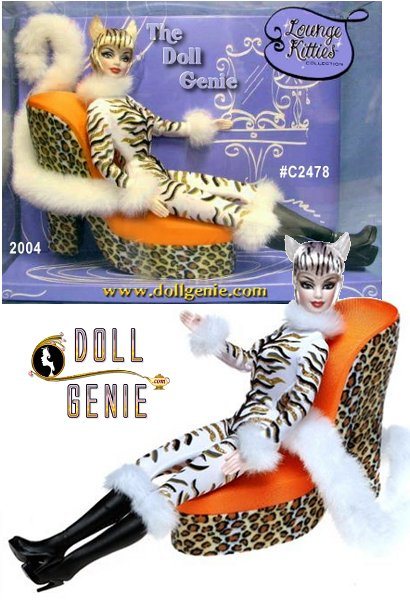 Alone in her lair after a long day, this fine feline relaxes in style wearing a sleek animal glitter-print catsuit with plush trim and high boots. The neckline, cuffs, knees, and tail are accented with plush trim. The final wonderful decoration for her lair is a whimsical shoe-shaped chair.