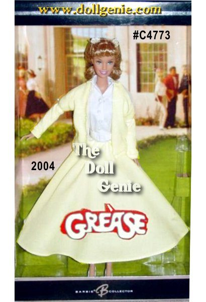 Grease is still the word! The nostalgic movie musical set in the fabulous fifties continues to charm audiences across the nation. Now, Barbie doll celebrates the film phenomenon again dressed as Sandy Olsson wearing a wonderful re-creation of the outfit worn in the Tell Me More song and dance scene.