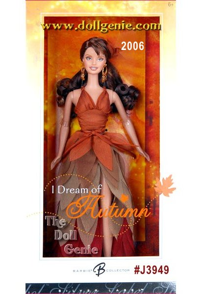Each season reveals its unique gift in time. The fantasy of fall is the inspiration for this dark haired beauty wearing a charmeuse gown with petal layers in shades of autumn. Golden earrings and a soft, rust-colored, iridescent chiffon hair ornament complete the ensemble. Rich earth tones speak of autumns abundance and the glory of each season!