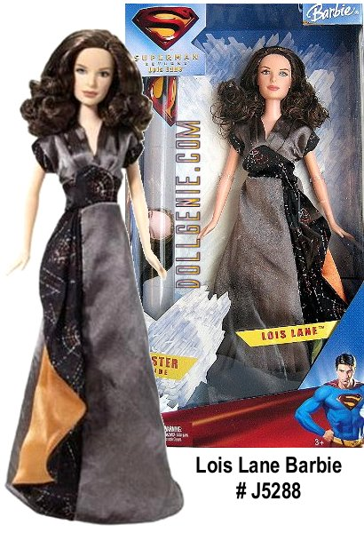 Superman Returns Barbie as Lois Lane. Superman Returns with a new chapter in the beloved saga. After a mysterious five-year absence, the Man of Steel comes back to battle evil and win back Lois Lane, the woman he loves. Barbie doll is the beautiful Lois Lane, intrepid reporter for the Daily Planet and long-time admirer of Superman. Includes a free poster for you.