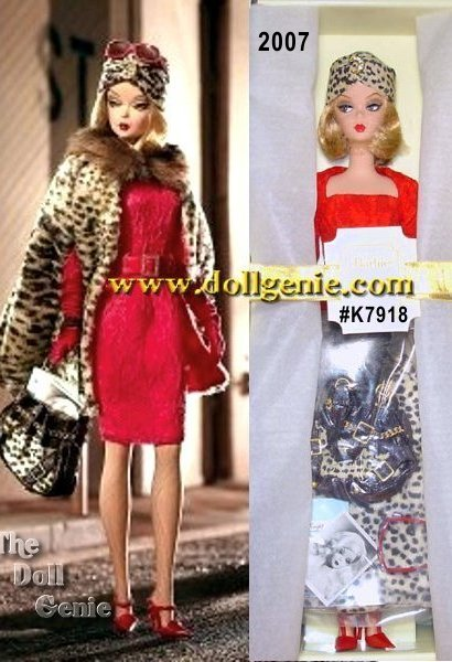 All the critics agree: the newest star of the silver screen is a showstopper in every sense! And she knows exactly how to make a grand entrance in a retro-glam ensemble of bold animal prints and shots of brilliant red. In true movie star style, Red Hot Reviews Barbie doll stuns the audience in a gorgeous belted dress, dramatic cape, and flawlessly matching handbag. Red-hot heels kick it up a notch, and oversized sunglasses are the final must-have in this unforgettably immaculate, devastatingly glamorous look. Less than 9,700 worldwide.