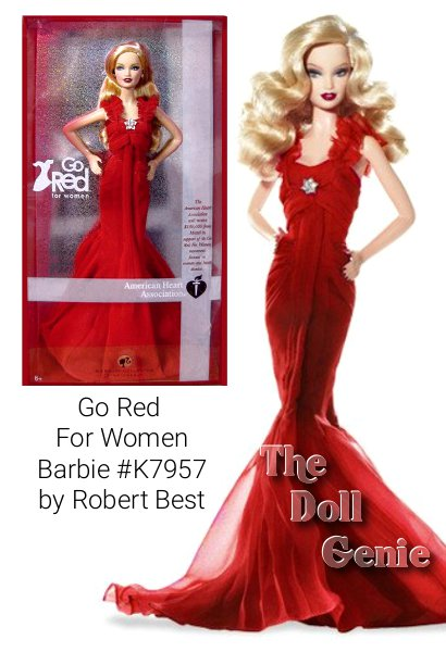 Barbie doll goes red for women everywhere, and so can you! The American Heart Association will receive $100,000 from Mattel in support of its Go Red For Women movement. The nationwide Go Red For Women campaign spreads awareness of the fight against heart disease, the #1 killer of women in America, and celebrates the passion and power of women to make better choices for happy, healthy hearts. Because of this movement, the color red and the red dress have come to symbolize the ability all women have to improve their hearts and live stronger, longer lives. Designed by Robert Best, Go Red For Women Barbie doll shows solidarity and support for this vibrant movement in an appropriately red dress, inviting women of all ages and walks of life to Go Red in style!