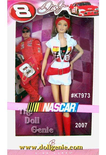 For more than half a century, NASCAR has thrilled fans around the world with the sheer adrenaline and excitement of the sport, earning passionate fans everywhere, including Barbie doll! Designer Sharon Zuckerman pays a special tribute to one of the biggest stars of NASCAR with this senational doll. A third-generation NASCAR champ, Dale Earnhardt, Jr. has catapulted to legendary success since his professional career began at the age of seventeen. Barbie doll knows how to pick a winner!