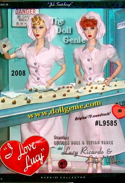 Lucille Ball and Vivian Vance star as Lucy Ricardo and Ethel Mertz dolls, captured here in hilarious detail dressed as chocolate factory employees from the famous Job Switching episode. Includes a portion of the original TV soundtrack from the show where their antics land them in trouble, and with serious bellyaches, as the pace picks up on the production line.