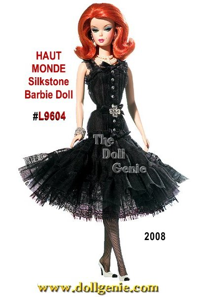 Every girl needs a little black cocktail dress especially Barbie doll! Fit for a fashion model, this stylish ensemble includes a gorgeous fitted black dress accented with black bows, chic jewelry, black and white high heels, and three strands of faux pearls. With auburn hair, Barbie is sure to set hearts on fire when she sashays into the cocktail party in this gorgeous get up. Less than 4,000 worldwide