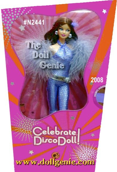 Barbie dolls celebrate 2008 birthdays and special occasions in beautiful gift-to-go packaging! Wrap up the perfect dance queen, in ultra-chic fantasy fashions and all the glamour she adores from Barbie. Musical doll stand included.