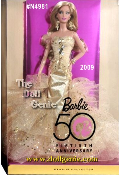 Now is your chance to join a once-in-a-lifetime celebration! Barbie dolls 50th anniversary sparkles even more brightly with a dazzling commemorative doll. The epitome of glamour, this radiant doll glitters beautifully. 50th Anniversary Barbie - designed by Robert Best is a doll for you to love and cherish, now and forever! Blonde Version