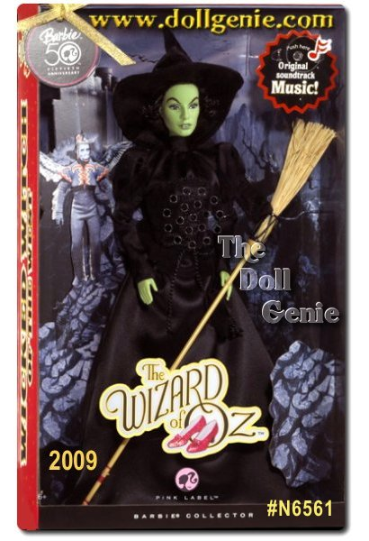 The most beloved family film of all time, The Wizard of Oz stars in the Ultimate Barbie Celebration Year. Celebrate 70 years of this landmark film with The Wizard of Oz Wicked Witch of the West Barbie Doll. And now, Barbie presents the classic dolls with original music from the movie. Designed by Bill Greening