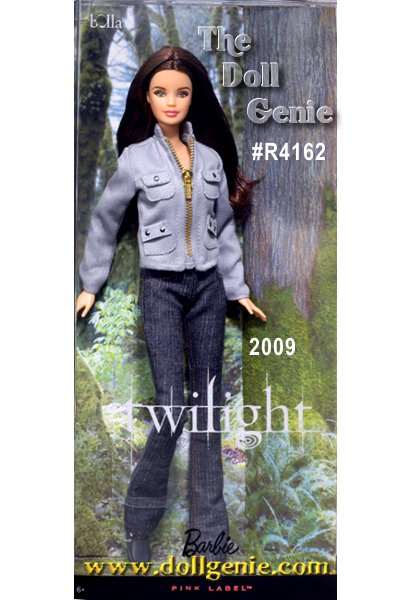 The movie Twilight tells the tale of teenage romance between mortal Bella Swan and the intriguing and dazzlingly beautiful vampire, Edward Cullen. With long brunette locks, an innocent expression, and her trademark outfit from the film (stylish jeans, sneaks, and a gray jacket), the Twilight Bella doll epitomizes her namesake. Add both dolls to your collection to reunite them for eternity! Designed by Sharon Zuckerman