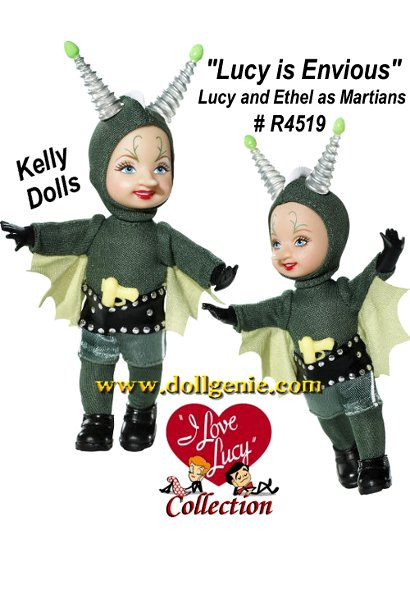 Everybody loves Lucy! In the Lucy Is Envious episode, Lucy and Ethel need to make some serious money. They take jobs promoting a movie called Women From Mars and find themselves dressed as Martians invading the observation deck of the Empire State Building! Dolls only.