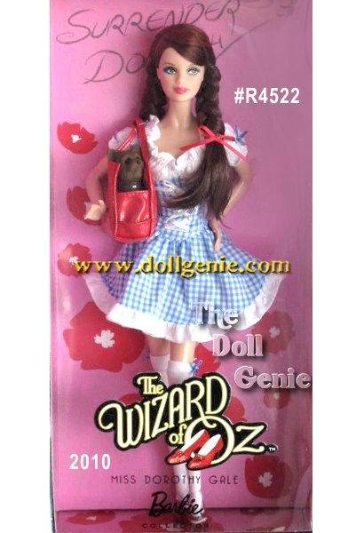Wizard of Oz Contemporary Dorothy Doll PINK LABEL Collection Lions, and tigers, and bears! Oh my! The Wizard of Oz Dorothy goes couture! She hits the yellow brick road runway in a flirty blue and white checkered mini dress with ruby red stilletos, and of course, Toto, who rests in her stylish red patent purse.