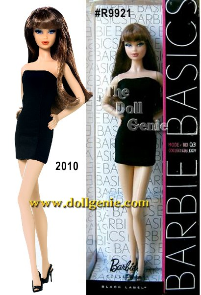 The little black dress just met its match, Barbie! Sleek and sophisticated, each Barbie Basics doll wears a stylish little black dress, and features a beloved Barbie face sculpt. Model No. 03 features the Steffie face sculpt, a sleeveless mini dress, and long super straight brown hair.rn