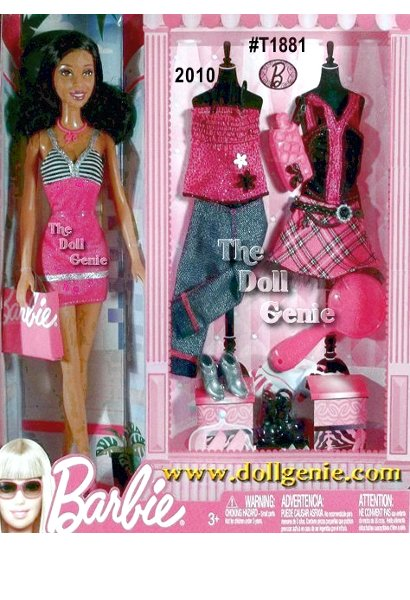 Barbie Fab Life Nikki Doll and Fashions Gift set: Its glam time. Nikki comes with beautiful boutique fashions to mix and match, head to toe, for so many occasions. Includes Nikki doll plus three complete looks, including shoes, handbag, and doll-size brush.