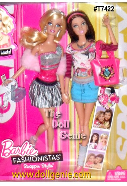 Feeling a little sporty or maybe sassy today? The Barbie Fashionistas Dolls 2 Pack is all about friendship and trying on different personalities. And with the fashion separates, mixing and matching has never been easier. Now Glam can get Sporty. Gift set includes 2 Fashionista dolls and 2 wear and share best friends necklaces so the girl can wear and share with her best friend.