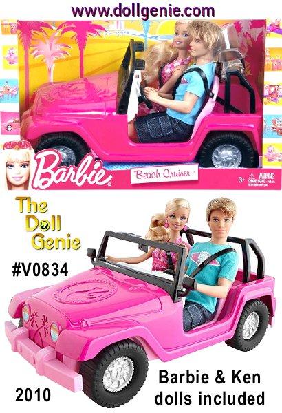 Barbie and Ken are ready for fun in the sun and cruising along the bike path near the beach or outdoors with the new Barbie and Ken Beach Cruiser! This playset includes BOTH Barbie and Ken Dolls plus an awesome beach cruiser vehicle.