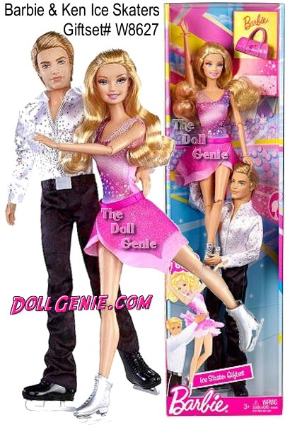 Spin and glide with this Barbie I Can Be Ice Skater Doll! Girls will adore the beauty and grace of this glamorous ice skater doll that also features her partner Ken! Barbie I Can Be Ice Skater Giftset - With this gift set, girls can explore the role of ice skaters, single or paired, with Barbie and Ken dolls. Their skating costumes add realism and allow girls to play out Pairs Ice Skating  just like at the Olympics!
