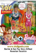 Toy Story 3 Barbie and Ken Dolls Hawaiian Dream Vacation Set is inspired by Toy Story 3, Barbie doll and Ken doll are off on a Hawaiian adventure dream vacation, complete with realistic
