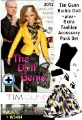 The ever-impeccable Tim Gunn mentors Barbie dolls style dressing her in a versatile Project Runway-ready ensemble that includes a classic yellow blazer, print blouse and skinny denim pants. Includes handbag, sunglasses, miniature phone and Tim Gunn book. Also included is the separate Tim Gunn Barbie Fashion and Accessory Pack #W3464