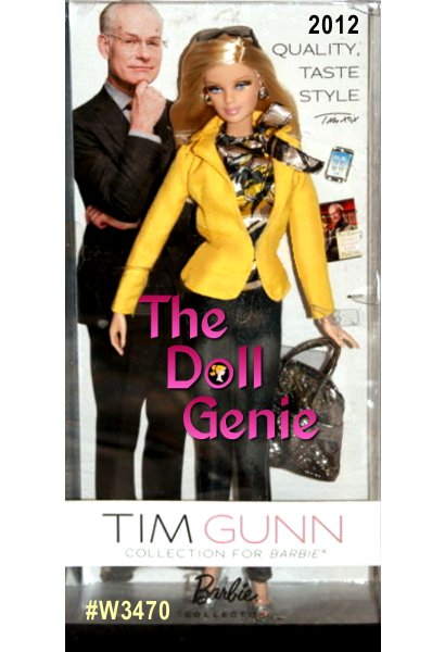 The ever-impeccable Tim Gunn mentors Barbie doll's style dressing her in a versatile Project Runway-ready ensemble that includes a classic yellow 0757_blazer, print blouse and skinny denim pants. Includes handbag, sunglasses, miniature phone and Tim Gunn book.