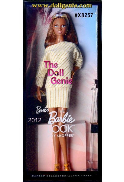 The Barbie Look Fashion Doll 2- This African American Barbie loves to change her look, and the Barbie. Look collection delivers affordable fashion play for the adult collector by providing dolls, fashions and accessories with realistic details. This stylish shopper is dressed in a casual day dress accessorized with a purse, golden jewelry and shopping bags.