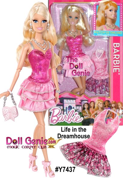 BARBIE Life in the DREAMHOUSE: Barbie doll's life in the Dreamhouse doll is pretty FAB! Friends are always stopping by to say hello and join in the fun. This doll is ready for the next adventure wearing an iconic fashion recognizable from the related webisodes. Includes Barbie Doll, extra fashion and accessories. Doll cannot stand alone. Each sold separately - Collect them all!