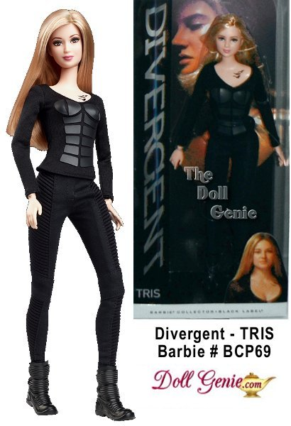 The future belongs to those who know where they belong. Tris doll wears her Dauntless training outfit comprised of a long-sleeve shirt with leather panels, matching pants and short coiled boots. The shirt reveals a glimpse of her tattoo with three ravens representing the three family members she left behind. Designed by Bill Greening - Less than 21600 worldwide