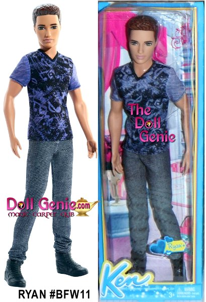 Consider this your personal invitation to party with the Fashionistas dolls! Dressed for a night of festive mixing and mingling, these stylishly handsome Fashionistas dolls are dressed for adventure. Ryan doll, is stylish in a printed V-neck tee, stonewashed denim jeans and short boots. Ryan is dressed in cool and casual party clothes. Shirts and pants feature trendy designs and sporty prints.