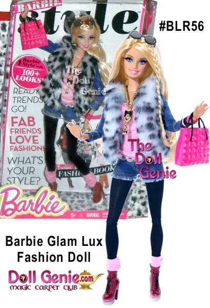 Barbie doll and her BBFFs - Barbie best friends forever - take street style to new heights of haute! Rooted eyelashes are eye-catching, and the totally fabulous fashions come with lots of luxe accessories. Choose from four right-on-trend denim looks you'll wish came in your size. Barbie doll rocks a faux fur vest, pink tee with lace trim, medallion necklace, cut-off jean shorts, black tights and pink socks above her platform boots. Or she's also outfitted in a leather-like jacket with faux sheepskin trim, fab headband, bib necklace, striped tee, army green cargo pants and moto boots. Together, they're a fashion blogger's dream come true! Mix and match among friends.