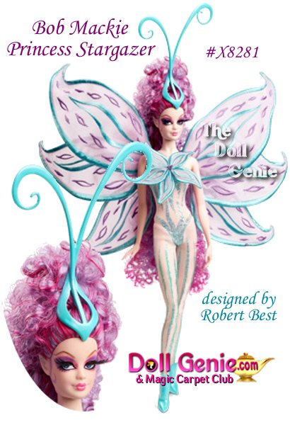 This spectacular fairy is adorned in a sheer, glittery bodysuit with a flower at the bodice and embroidered gossamer-like wings. She iss perfectly poised from her long, flowing hair to her curling antenna to her dainty fairy ears and tiny pointed booties. Clever and mischievous, shes utterly enchanting as well. Limited Quantities Available