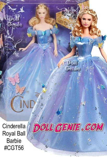 A beloved fairy tale comes to life in Disney's new Cinderella live action movie where kind and beautiful Ella is rewarded with a wish come true. Cinderella doll enchants in an iconic dress with multicolor blue and purple layers that create spectacular volumernShe sparkles from head to toe with delicate, magical butterflies, foil print accents. Her famous