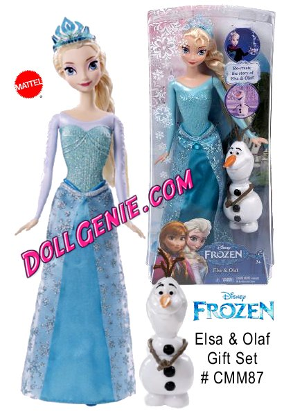 Disney Frozen Sparkle Princess Elsa and Olaf Doll Giftset: Based on the hit Disney animated film, Frozen. Recreate the magical story of Elsa and Olaf with this giftset! Beloved, powerful Elsa absolutely dazzles in sparkling fashions with signature wintry colorsrnIncludes 1 Elsa doll and 1 Olaf figure - A great gift that any child is sure to love