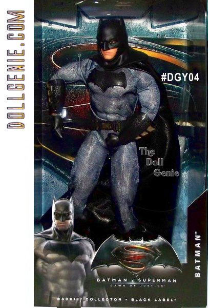 Dawn of Justice - Ken as BATMAN DGY04 - Fierce and formidable, the Dark Knight of Gotham City is on a mission to take down Superman! Youll swear this fully articulated Batman looks just like the gritty hero arriving on movie screens in March 2016, in both face sculpt and costume design. Includes Batarang accessory and display stand.