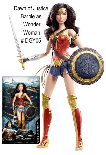 Dawn of Justices Wonder Woman Barbie will be coming out in the spring as part of Mattels Dawn of Justice line. The 12