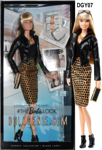 Barbie doll has The Look and  with the worlds best style has fans around the world tuning in daily to see where she is and what shes wearing. Her city chic outfit includes a faux leather jacket, black top, and animal print pencil skirt paired with black booties. Accessories for everyones favorite jet setting doll include a necklace, clutch, sunglasses, to-go coffee cup and fashion magazines. Catch even more of Barbie dolls coolest ensembles on Instagram BarbieStyle. Each sold separately, subject to availability. Colors and decorations may vary. Features: Barbie doll always has The Look. Inspired by one of the most liked BarbieStyle Instagram posts.. Doll wears a faux leather jacket with an animal print skirt and black booties. Accessories include a necklace, clutch, sunglasses, to-go coffee cup and magazines.