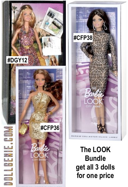 Get all 3 of these LOOK Barbie dolls for one price.