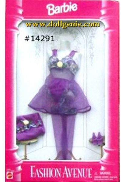 Barbie Fashion Avenue Purple Lingere Clothing # 14291