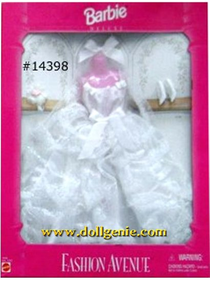 Barbie Fashion Avenue Wedding Dress Clothing 14398