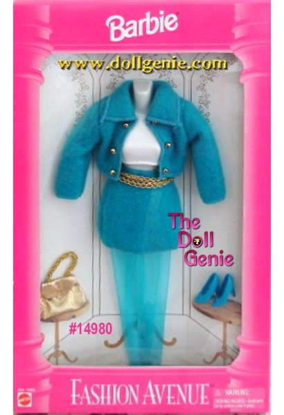 Barbie Fashion Avenue Blue Skirt Set and Accessories Pack # 14980