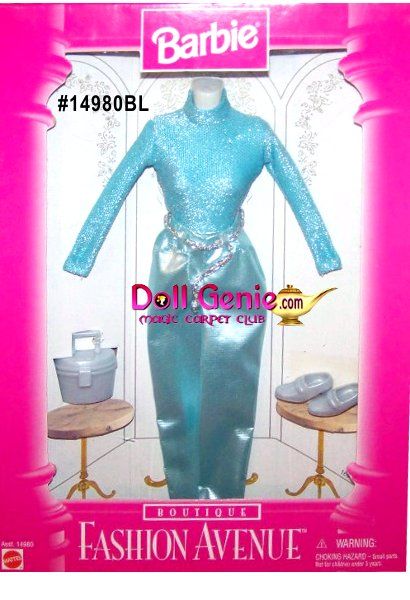 Barbie Fashion Avenue Sparkly Blue Pants Outfit # 14280BL