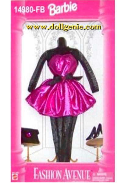 Barbie Fashion Avenue Fushia & Black Dress Clothing 14980FB