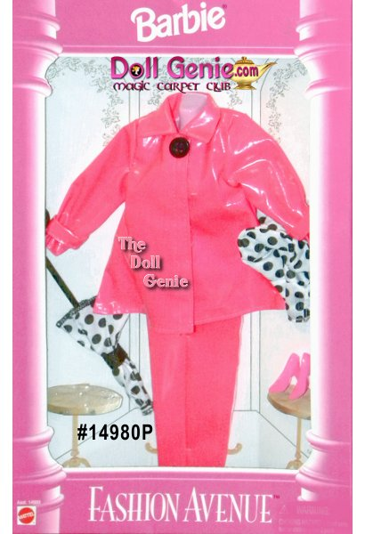 Barbie Fashion Avenue Pink Raincoat and Accessories Pack # 14980P