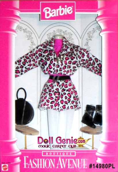 Barbie Fashion Avenue Pink Leopard Fashion Set with Accessories