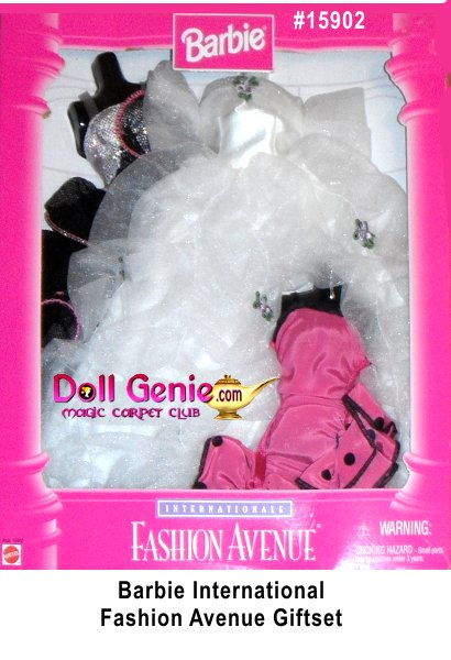 Barbie Fashion Avenue 3 International Fashions Gifset